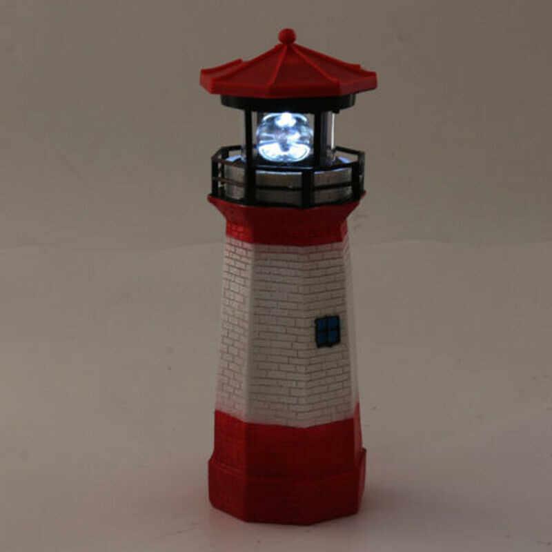 Lumière décorative jardin de lampe à LED rotative idéale phare à énergie solaire