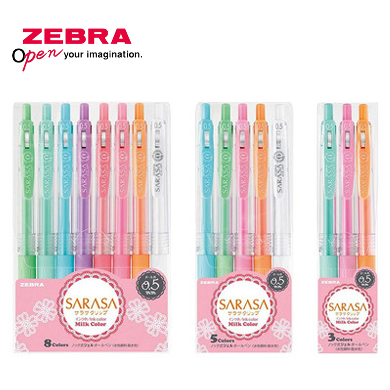3/5/8pcs Zebra SARASA JJ15 Milk Color Gel Pen Light Color Line Drawing Pen Gel Pen Set 0.5mm