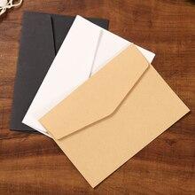 Envelopes de papel clássicos de 10/20 pces branco preto kraft em branco da janela de papel envelopes do convite do casamento envelope do presente