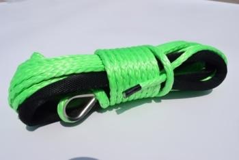 Зеленая синтетическая веревка 6 мм * 15 м, лебедка ATV, кевларовая лебедка 6 мм, аксессуары для ATV лебедки, плазменная веревка