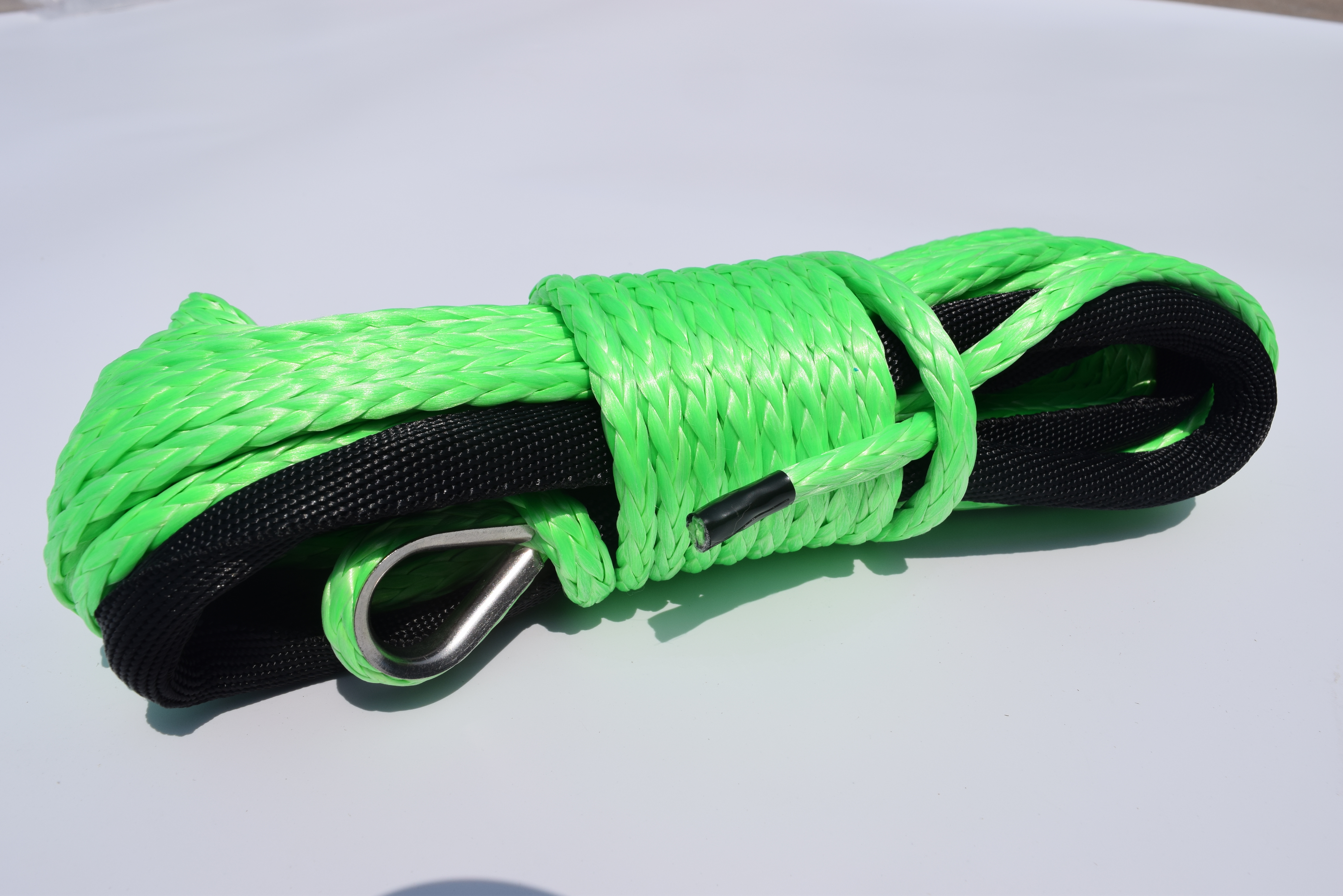 Green 6mm*15m Synthetic Rope,ATV Winch Line,Kevlar Winch Rope 6mm,ATV Winch Accessaries,Plasma Rope
