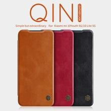 For Xiaomi Mi 10 Youth 5G グラムフリップケース nillkin 秦革カバーカードポケット財布ミ For Xiaomi Mi 10 Lite 5G グラムスマートウェイクアップ