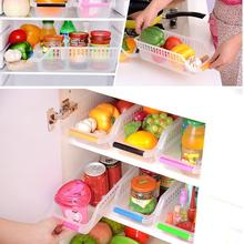Best 2Pcs/Lot High Quality New Slide Kitchen Fridge Freezer Space Saver Organizer Refrigerator Storage Rack Shelf Holder Drawer