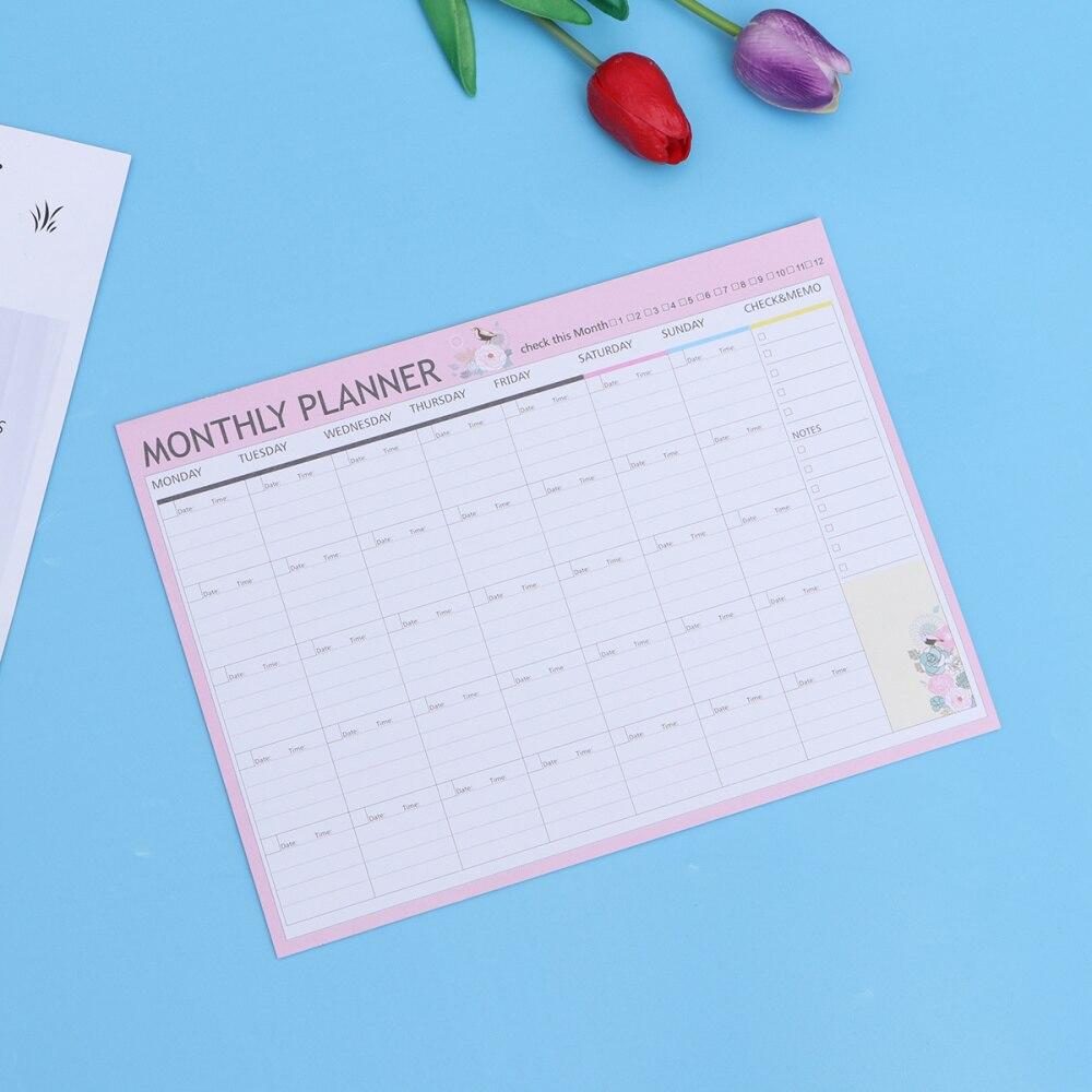 20 Sheets Monthly Planner Calendar Schedule Organizer Agenda Schedule Organizer Notebook(Green Mixed)