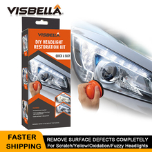 Visbella Headlight Restoration System Repair Kit DIY Headlamp Brightener Car Care Repair kit Lamp Light Clean Polish by manual