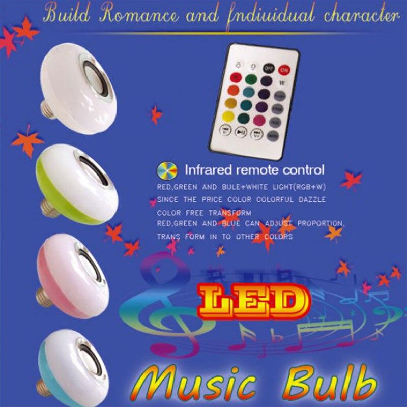 LED Music Bulb KTV E27 LED Loudspeaker Bar LED Speaker Bluetooth 4.0 Colorful APP Control Home Wireless 12W Lamp Audio Gift