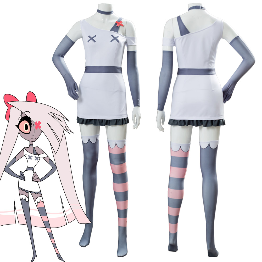 Hazbin Cosplay Hotel VAGGIE Cosplay Costume Suit Halloween Carnival Women Female Uniform
