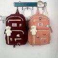 Модный женский рюкзак в Корейском стиле для учеников Старшей школы, Женский Удобный Простой Вместительный рюкзак, рюкзак, кошелек
