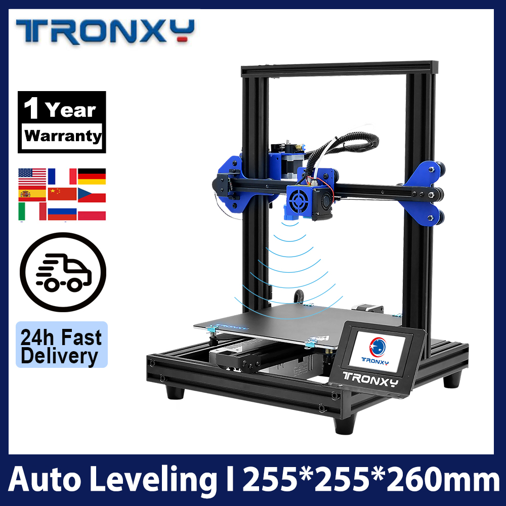 Tronxy XY-2 Pro 3D Printer Kit 255*255*260mm Fast Assembly Support Auto Leveling Resume Print Filament Run Out Detection