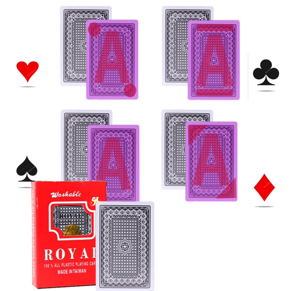 Royal Perspective Poker Card For Infrared Contact Lenses Poker Cheat Magic Card Anti Casino Cheat Perspective Glasses