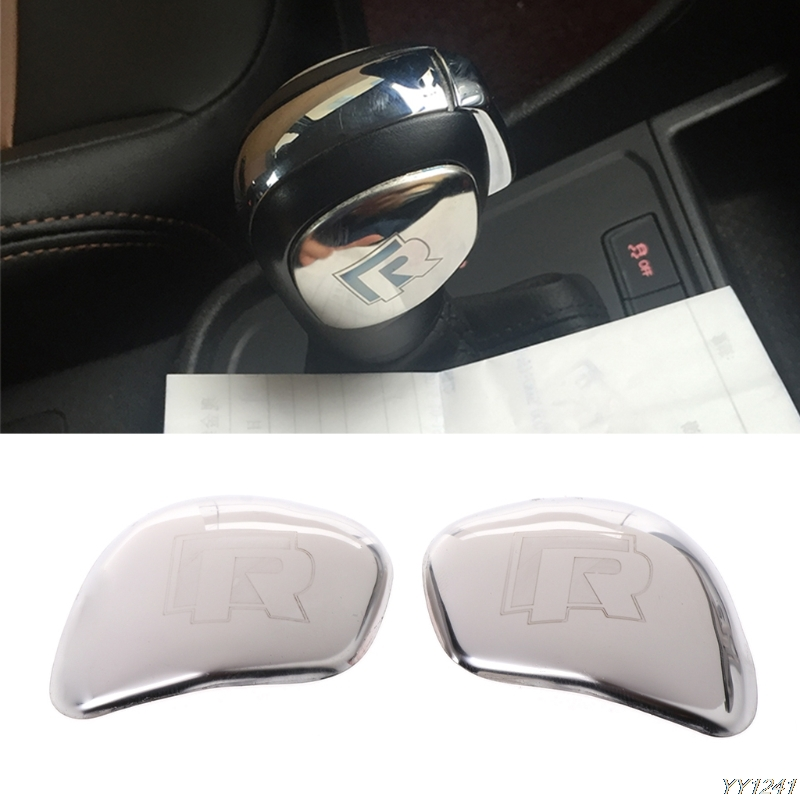 2019 Newest Gear Shift Knob Side Cover Trim Sticker For VW Golf MK7 Tiguan Polo Beetle Passat Car-styling 2 Pcs image