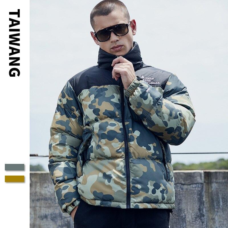 Fabricants vente directe Europe et amérique populaire marque coton manteau jeunes hommes extérieur hiver manteau 2019 nouveau Style Stand C