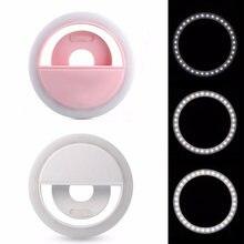Светодиодное кольцо для селфи лампа с зажимом объектива светодиодные