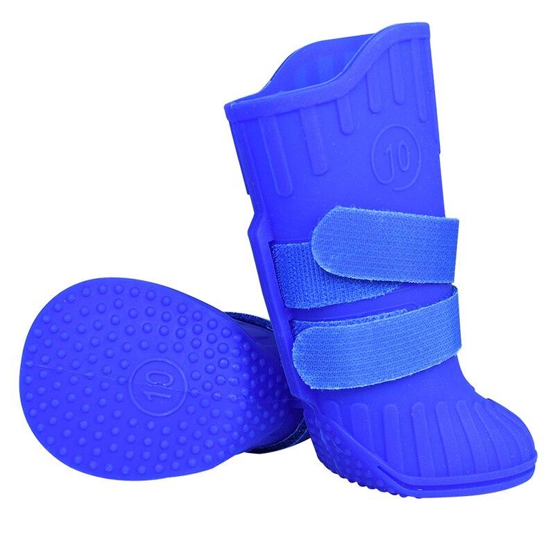 4 pièces caoutchouc naturel grand grand chien pluie neige chaussures imperméable anti-dérapant doux respirant chien chaussures doré récupérateurs Pet chaussures