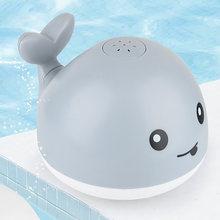 Baby Bad Spielzeug Spray Wasser Dusche Schwimmen Pool Bade Spielzeug Für Kinder Elektrische Whale Bad Ball mit Licht Musik LED licht Spielzeug Geschenk