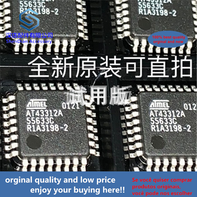 2pcs 100% Orginal And New AT43312AQFP32  AT43312A-AU Best Qualtiy