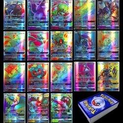 Takara tomy 100 pçs 95gx 5 mega não repetir brilhando cartões jogo batalha carte negociação crianças cartão pokemon brinquedo