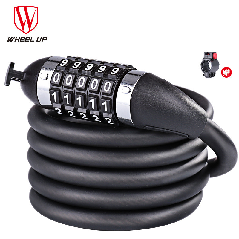 1.8m//1.2m Bike Bicycle Heavy Duty Steel Security Cable 5 Digit Combination Lock
