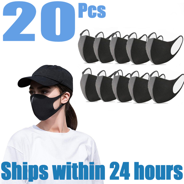 Hot Nano-polyurethane Black Mouth Mask Anti Dust Mask Activated Carbon Windproof Mouth-muffle Bacteria Proof Flu Face Maska