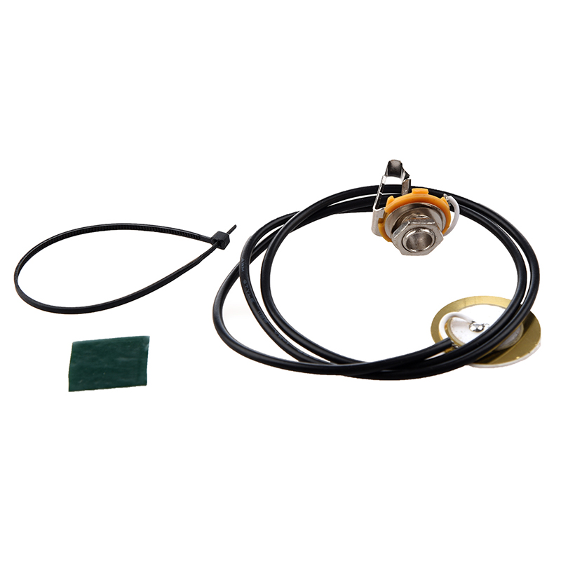 Guitar Parts Acoustic Pickup Pre-Wired Piezo Amplifier Jack