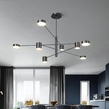 Современный золотой черный белый светодиодный подвесной светильник