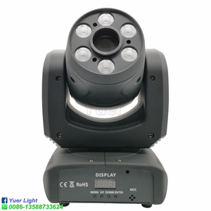 Image 2 - Projecteur de lumière à tête mobile 100W LED avec faisceau de lavage, Cree 4 en 1, 6 pièces de lumière pour Disco DJ lampe à LED