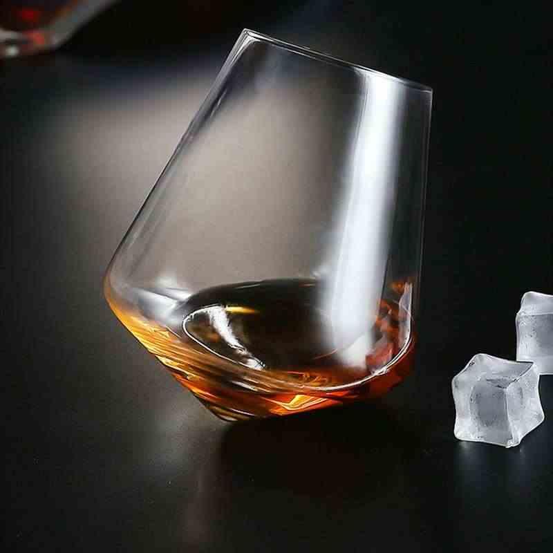 Irregolare Whisky Bicchiere di Vino Rotante di Alta Pancia di Birra Whisky Brandy Cocktail Bere Vino Cup Tumbler Imbottiture Bar In Vetro Articoli e Attrezzature per Acqua, Caffè, Tè