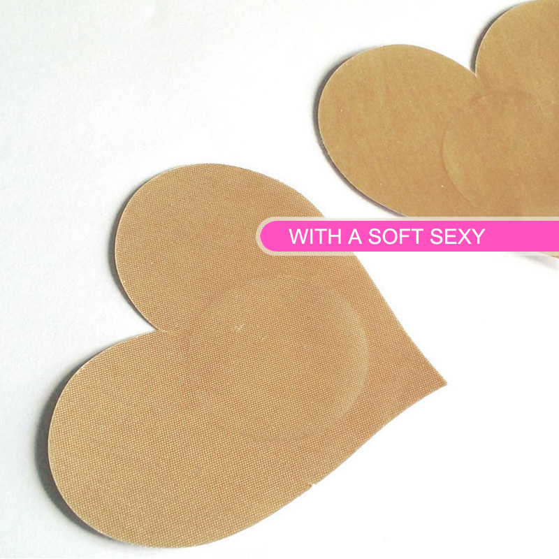 Sexy 20 Pairs (40Pcs) /Big Heart Shape Breast Pasties Nipple Covers-color-non-sensitizing Adhesive With A Soft Sexy Experience