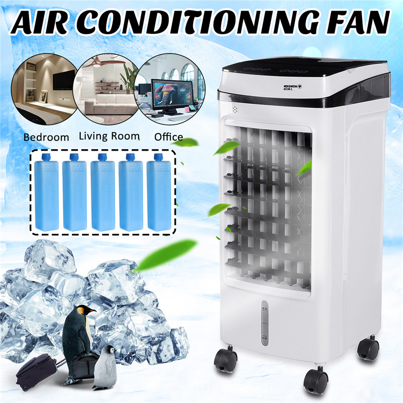 75W Home Mobile Air Conditioning Fan Portable 15L Tank Humidifier Cooler 3 Fan Modes Sleep Timer 220V Bedroom Living Room Office
