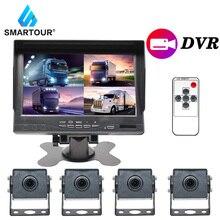 Smartour Sony Auto Kamera Bus Lkw Schwarz Box Sicherheit Überwachung System 4CH 720P Mobile AHD DVR Realtime Video/ audio Recorder
