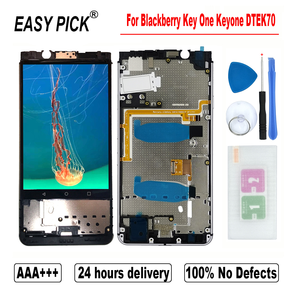 For Blackberry Key One Keyone BBB100-1 BBB100-2 -3 -4 -5 -6 -7 LCD Display Touch Screen Digitizer Assembly For Blackberry DTEK70(China)