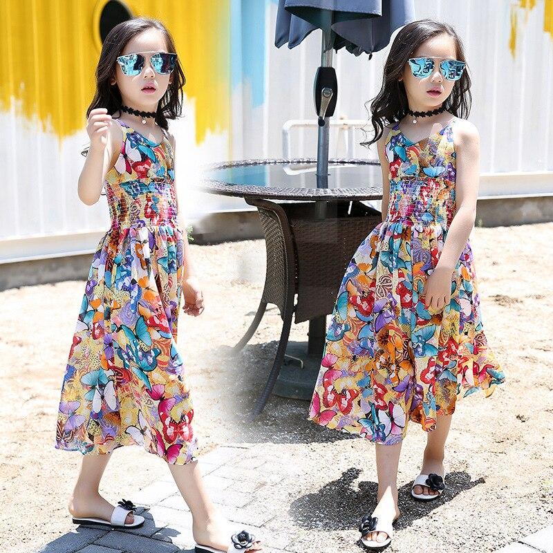 2020 nouvelle fille robe dété enfants robes pour filles robe enfants vêtements tenue décontractée mode robe de plage 5 6 7 8 9 10 11 12 ans