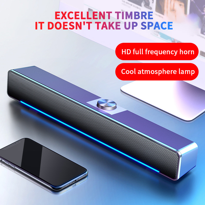 USB Bluetooth Speaker Wired Computer Speaker Bass Stereo Powerful Music Player Subwoofer For PC Laptop Колонка