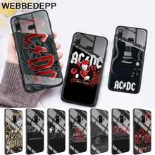 Music Band ACDC Glass Case for Samsung S7 Edge S8 S9 S10 Plus A10 A20 A30 A40 A50 A60 A70 Note 8 9 10