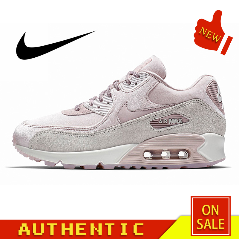 Original Authentic NIKE AIR MAX 90 ESSENTIAL Women's Running Shoes Outdoor Fashion Sports Breathable 2019 New 898512-600