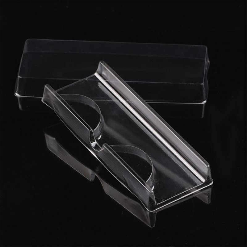 50 ピース/セット透明白ピンクプラスチックまつげ包装ボックス偽まつげトレイ収納カバーシングルケースカスタムロゴ 40 #726