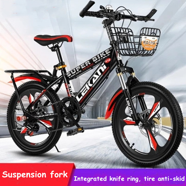 18/20/22 inch mountain bike variable speed disc brake shock absorption 6-12 years old boys and girls bicycles student bicycles 1