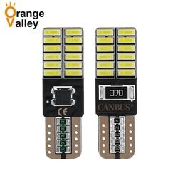 100 pçs super brilhante t10 led 194 501 w5w 24 smd 4014 canbus livre de erros luzes interiores do carro auto lâmpadas de afastamento dc 12v