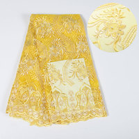 New Arrival African Embroidery Lace Fabrics High Quality Cotton Lace Fabric Pure Stones Swiss Voile Lace In Switzerland YH068
