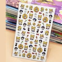 3d наклейки для ногтей с бантом рисунком из аниме изображением