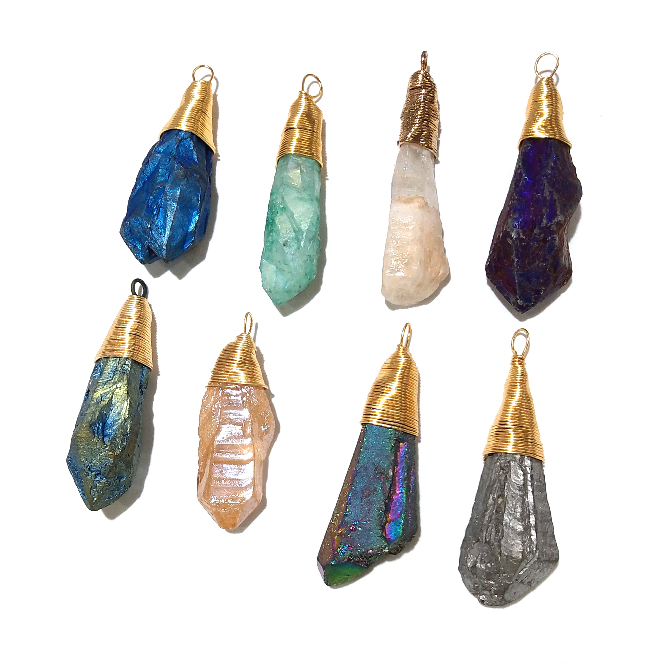 Wholesale New Crystal Pendants for Necklace Jewelry Making Supplies Fashion Natural Stone Pendants for Diy Jewelry Size 58x20mm in Pendants from Jewelry Accessories