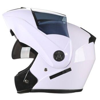 2 Gifts Unisex Racing Motorcycle Helmets Modular Dual Lens Motocross Helmet Full Face Safe Helmet Flip Up Cascos Para Moto kask 8