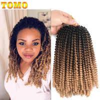 TOMO moelleux printemps torsion Extensions de cheveux noir brun bordeaux 8 pouces Ombre Crochet tresses Passion torsion synthétique tressage cheveux
