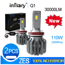 Infitary H7 Led H4 Lamp H1 Car Bulb H11 Fog Lights Canbus 6500K No Error H3 Headlight Hb4 9005 9006 For Auto And Motorcycle NEW