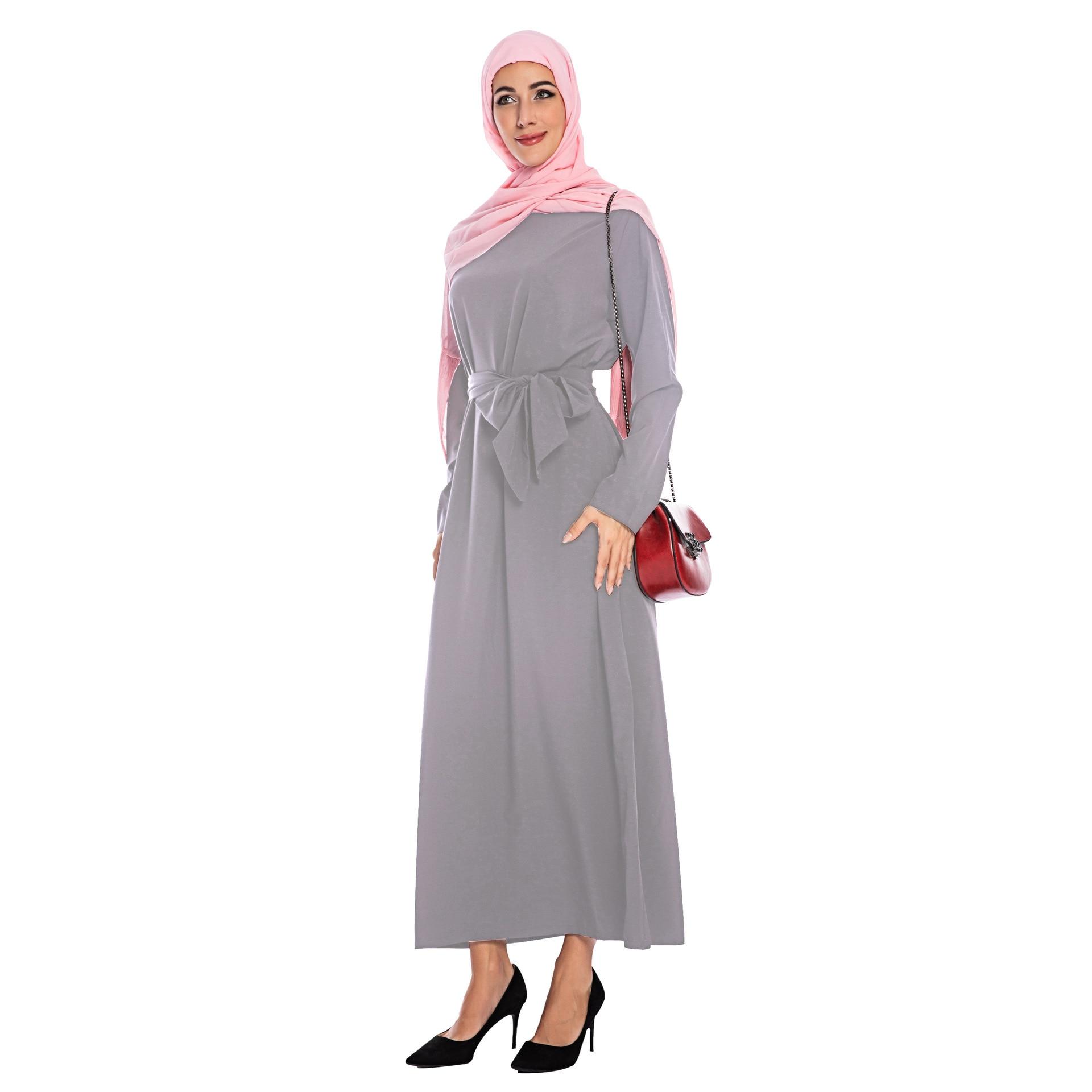 Muslim Abaya Jilbab Saudi Arab Women Long Maxi Dress Islamic Robe Kaftan Gown Arab Casual Hijab Dress Prayer Worship Service