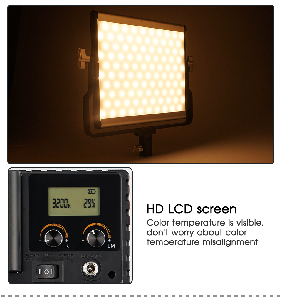 H82ebbe6c26514dd4ae5a2d76736ba2562 Travor Dimmable Bi-color 2set LED Video Light Kit with U Bracket 3200K-5600K CRI96 and Bag for Studio Photography Video Shooting