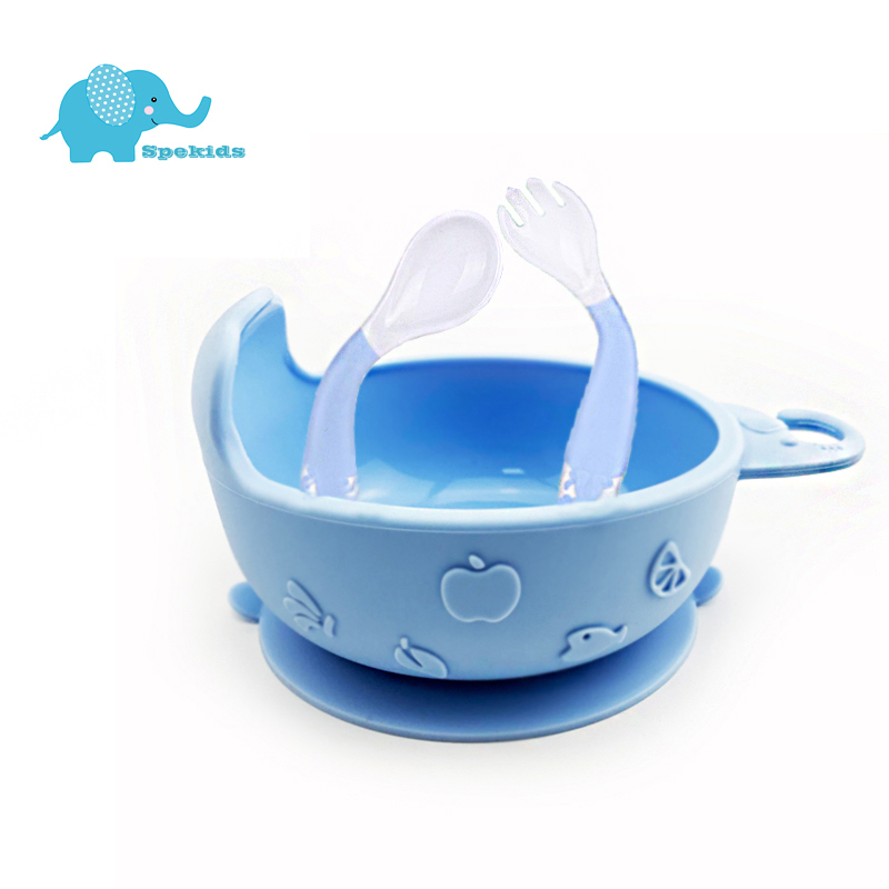 Elephant Shape Silicone Baby Suction Bowl Slip Resistant Learning Feeding Tableware Kids Plate/Tray Suction Cup Baby Dinnerware