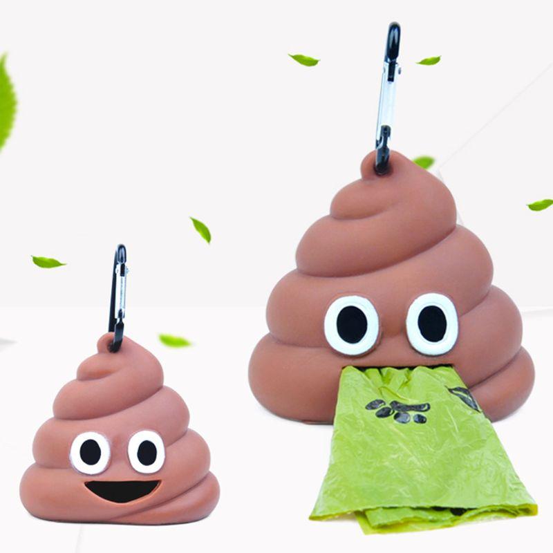 Outdoor Portable Waste Bag Dispenser Carrier Dog Poop Bag Holder Storage Box