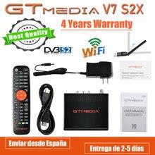 Receptor de satélite gtmedia v7 s2x DVB-s2/s2x com usb wi-fi fta digital receptor atualização gtmedia v7s hd freesat v7s2x v8 nova