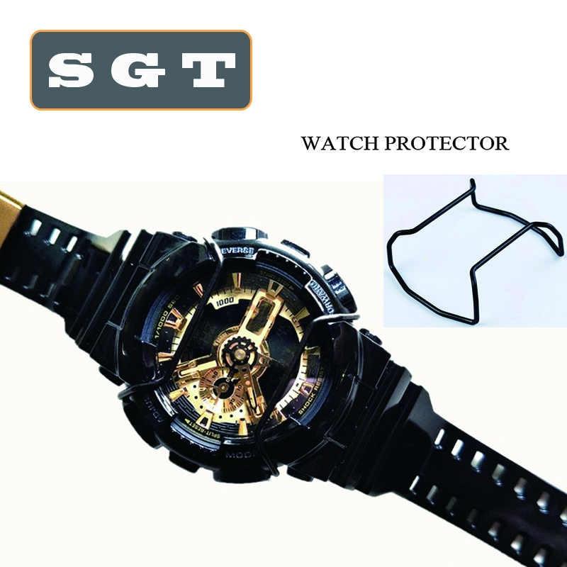 שחור שעון פגוש עבור Casio G-SHOCK GA100/GA110/GA120/GD100/GD110/GD120 נירוסטה שעון אביזרי רצועת השעון לולאה